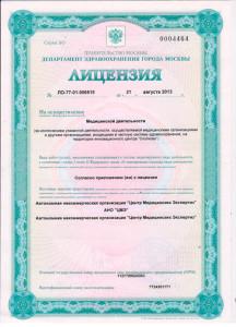 Лицензия на психиатрическое освидетельствование